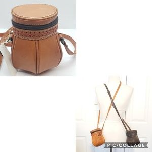 Brown Leather Vintage Crossbody Handbag